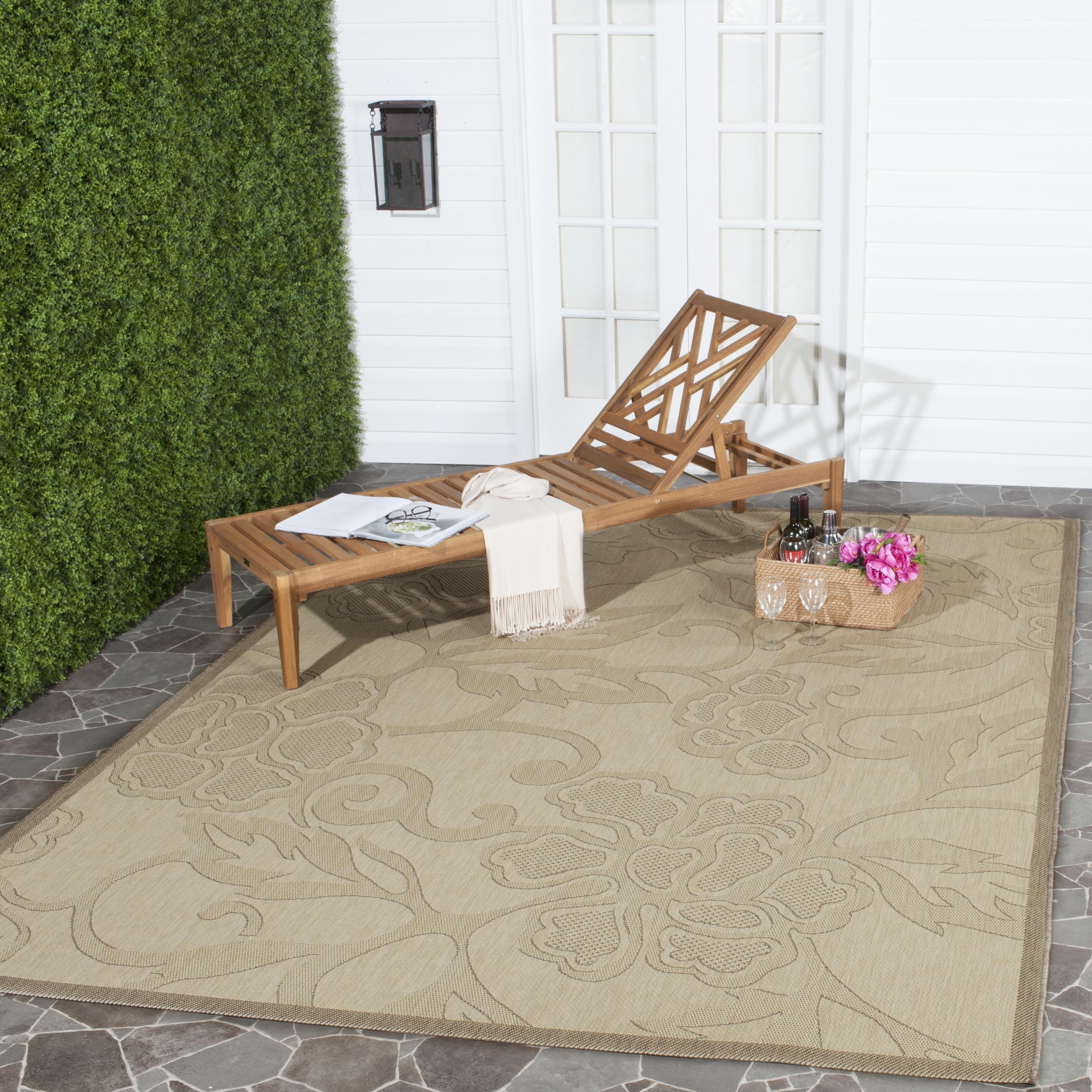 Safavieh Courtyard Helen Floral Geometric Indoor/Outdoor Area Rug