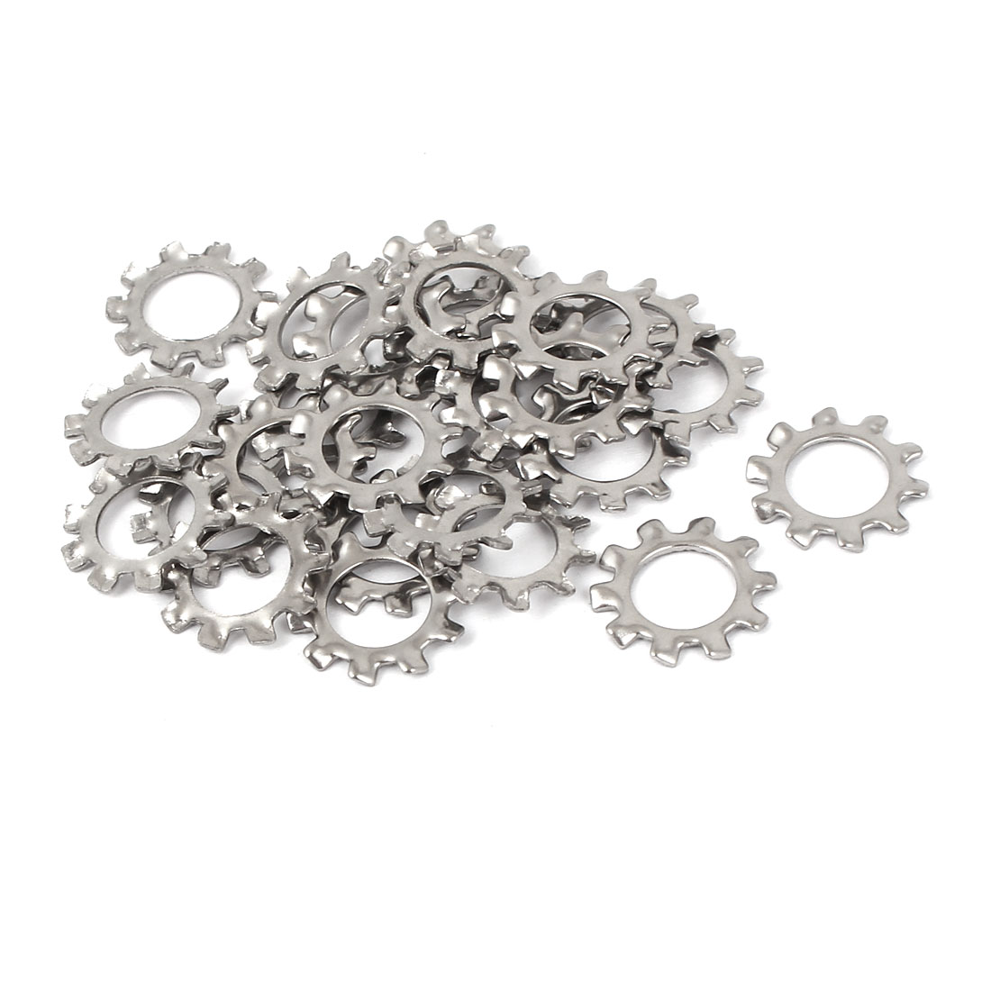 M8 304 Stainless Steel External Star Lock Washers 25 Pcs