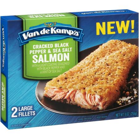 Van de kamp 39 s cracked black pepper sea salt salmon for Van de kamp s fish sticks