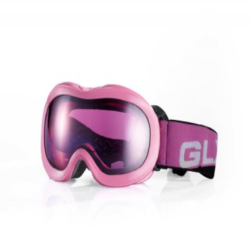GLX Youth SBP-50 Snow Goggles (Pink Frame   Pink Iridium Lens) by