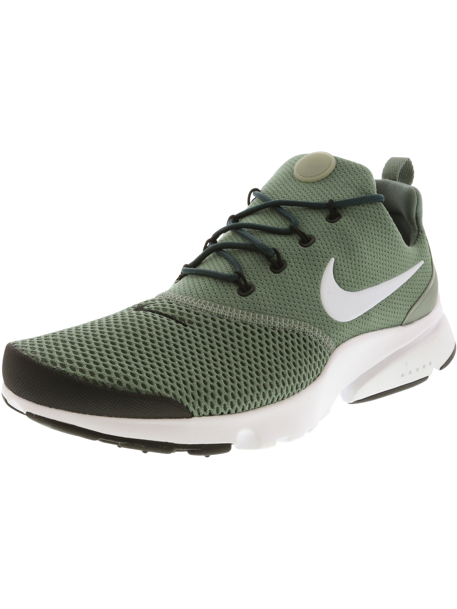 a2ec534ce6f0 Nike Men s Presto Fly Clay Green   White - Black Ankle-High Mesh Running  Shoe 10M