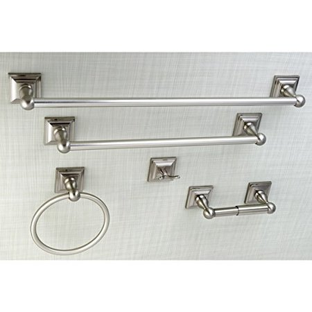 Acerra 5 Piece Bathroom Accessory Set Satin Nickel