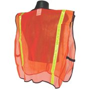 RADWEAR SVO1 Non-Rated Safety Vest XL Polyester Green/Orange/Silver