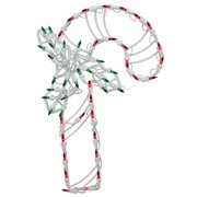 18 led lighted candy cane christmas window silhouette decoration pack of