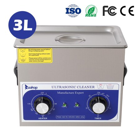 ZOKOP Ultrasonic Cleaner, Professional Ultrasonic Jewelry Cleaner with Timer, Portable Household Ultrasonic Cleaning Machine, Electronics Eyeglasses Watch Ring Diamond Retainer Denture (Best Jewelry Cleaning Machine)