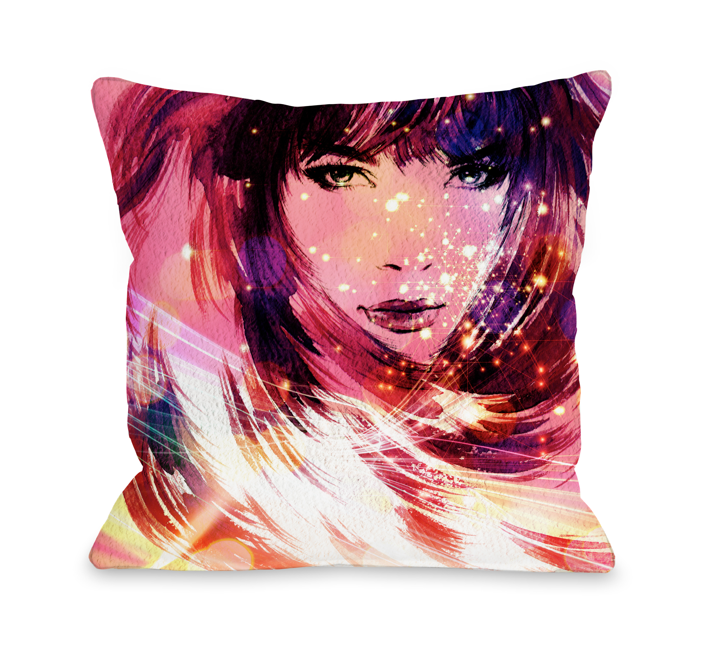 Her Time To Shine - Pink Multi 16x16 Pillow by OBC