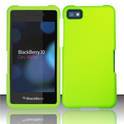 Insten Neon Green Rubberized Hard Cover Case For Blackberry Z10