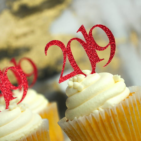 Glitter Red 2019 Graduation Cupcake Toppers. (1 Pack of 12 Toppers) Created in 1-3 Business Days. Red Graduation Party - Frozen Cupcakes Toppers