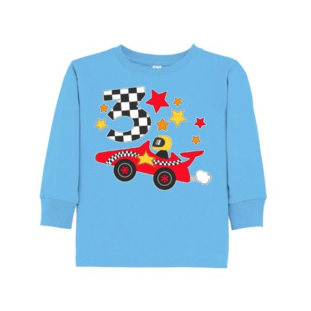 Happy 3rd Birthday Red Racing Car Toddler Long Sleeve T Shirt