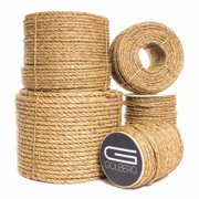 GOLBERG Manila Rope - Heavy Duty 3 Strand Natural Fiber - 1/4 inch, 5/16 inch, 3/8 inch, 1/2 inch, 5/8 inch, 3/4 inch, 1 inch, 2 inch - Available in Different Lengths