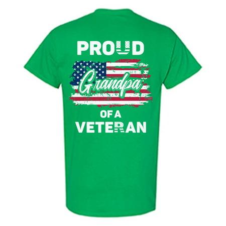 Awkward Styles Proud Grandpa of a Veteran Shirt Gift Idea Vintage USA T shirt for Grandpa I'm American Veteran Grandpa Tshirt 4th of July Gifts Patriotic USA T-shirt for Grandpa - 4th Of July Food Ideas