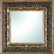"9"" X 9"" Champagne Ornate Square Mirror"