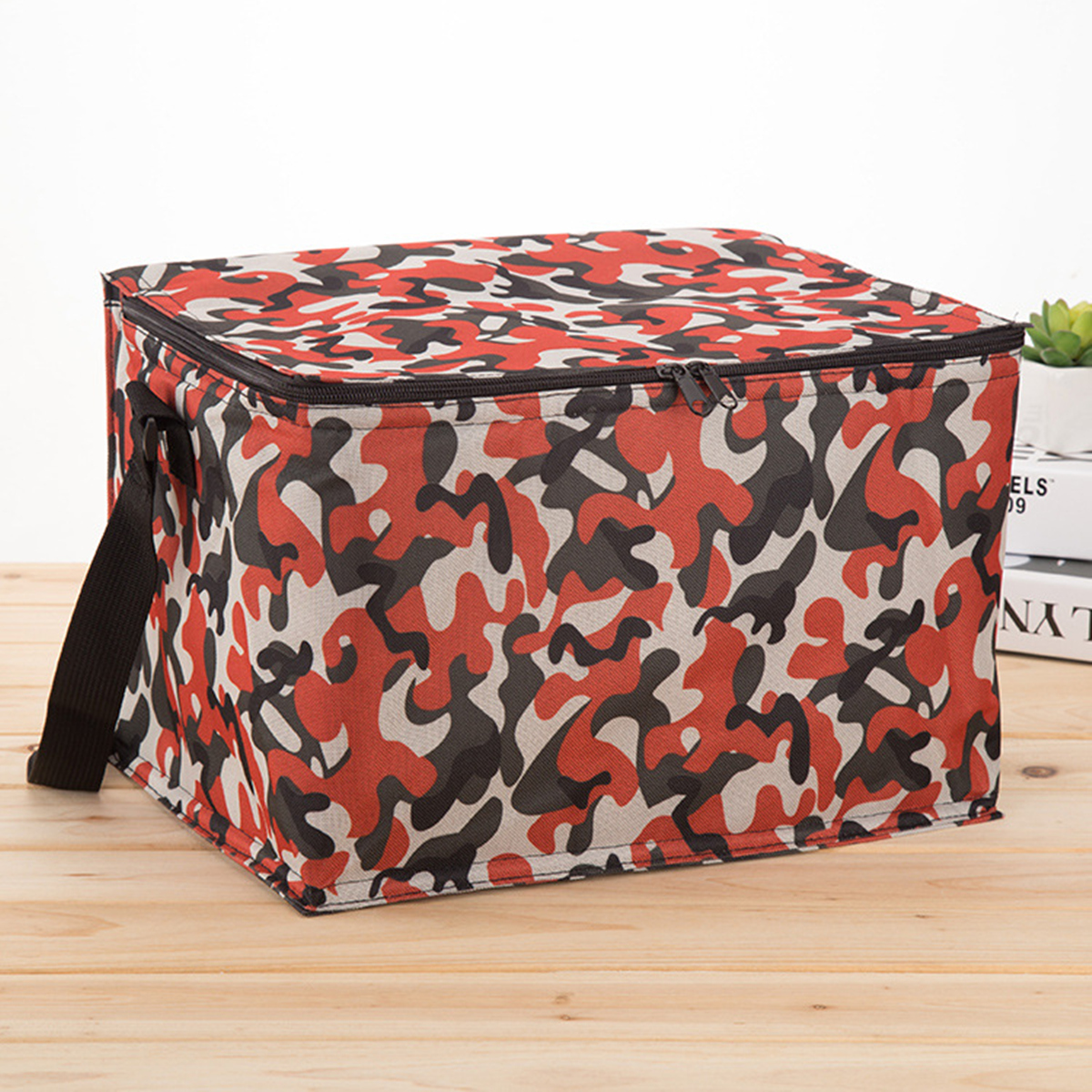 Large Camouflage Thermal Cooler Waterproof Insulated Portable Tote Picnic Lunch Bag