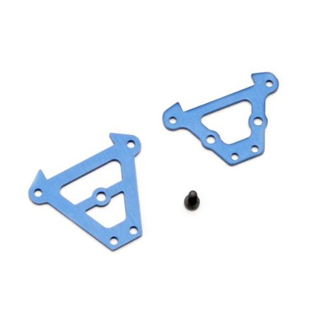 Traxxas 7023 Blue-Anodized Aluminum Bulkhead Tie Bars, Front and Rear