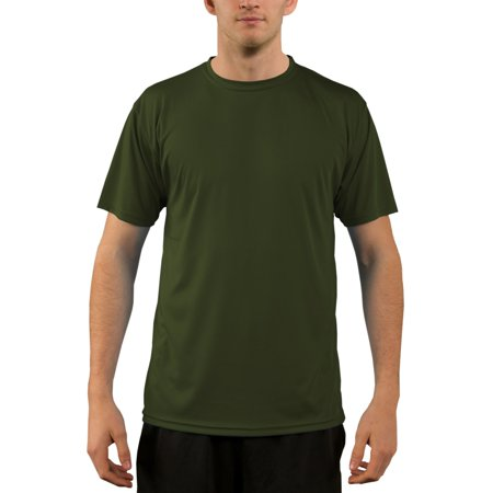 Vapor Apparel Men's UPF 50+ UV Sun Protection Short Sleeve T-shirt Small OD Green - 50 Clothes