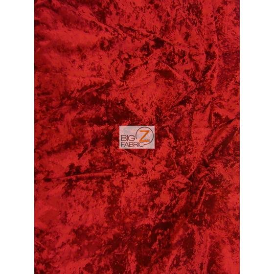 Crush Flocking Upholstery Velour Velvet Fabric Red Sold By The Yard