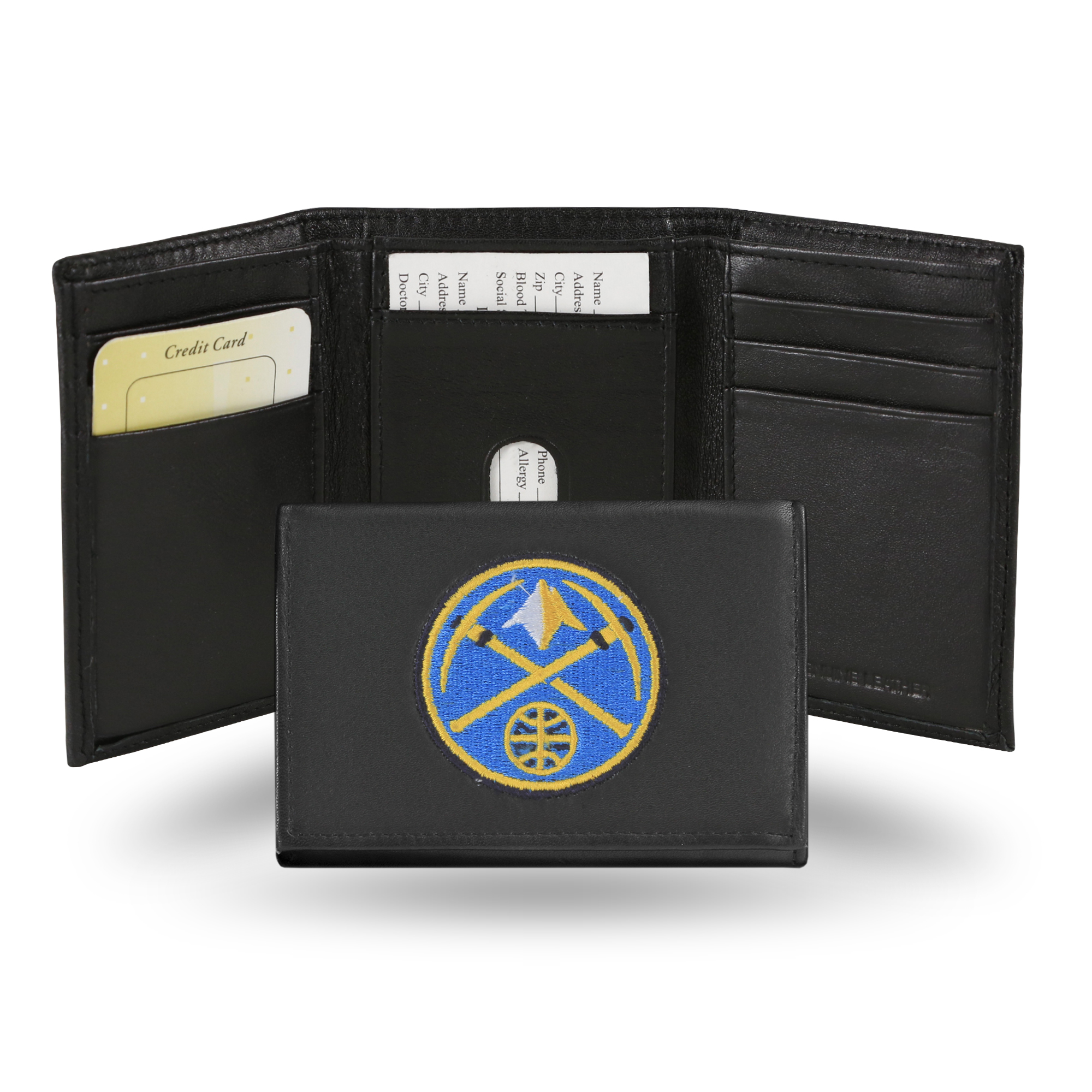 NBA - Men's Denver Nuggets Embroidered Trifold Wallet