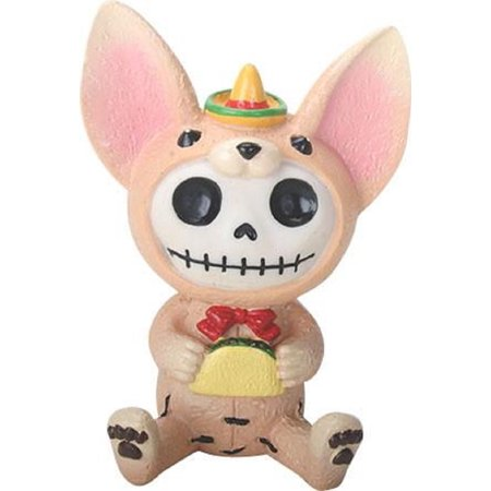 Chihuahua Costumes (Furrybones Taco Skeleton Dressed in Chihuahua Dog Costume Halloween Figurine)