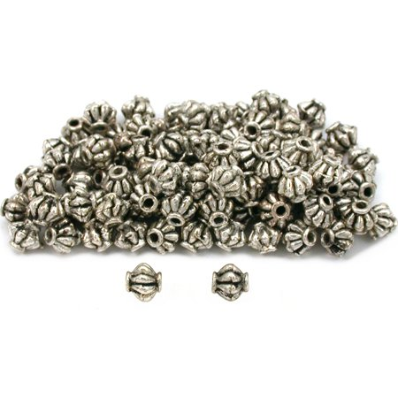 Fluted Bali Beads Antique Silver Plated 5mm Approx 100