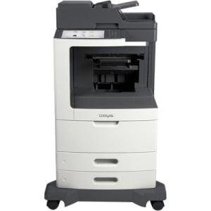"""Lexmark MX810DE Laser Multifunction Printer - Monochrome - Plain Paper Print - Desktop - Copier/Fax/Printer/Scanner - 55 ppm Mono Print - 1200 x 1200 dpi Print - 55 cpm Mono Copy - 10.2"""" Touc"""