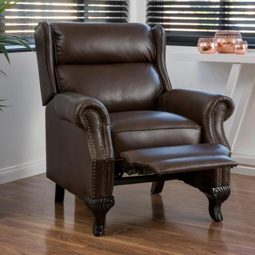 Tauris PU Leather Recliner Club Chair By Christopher Knight Home (Black),  Size Standard