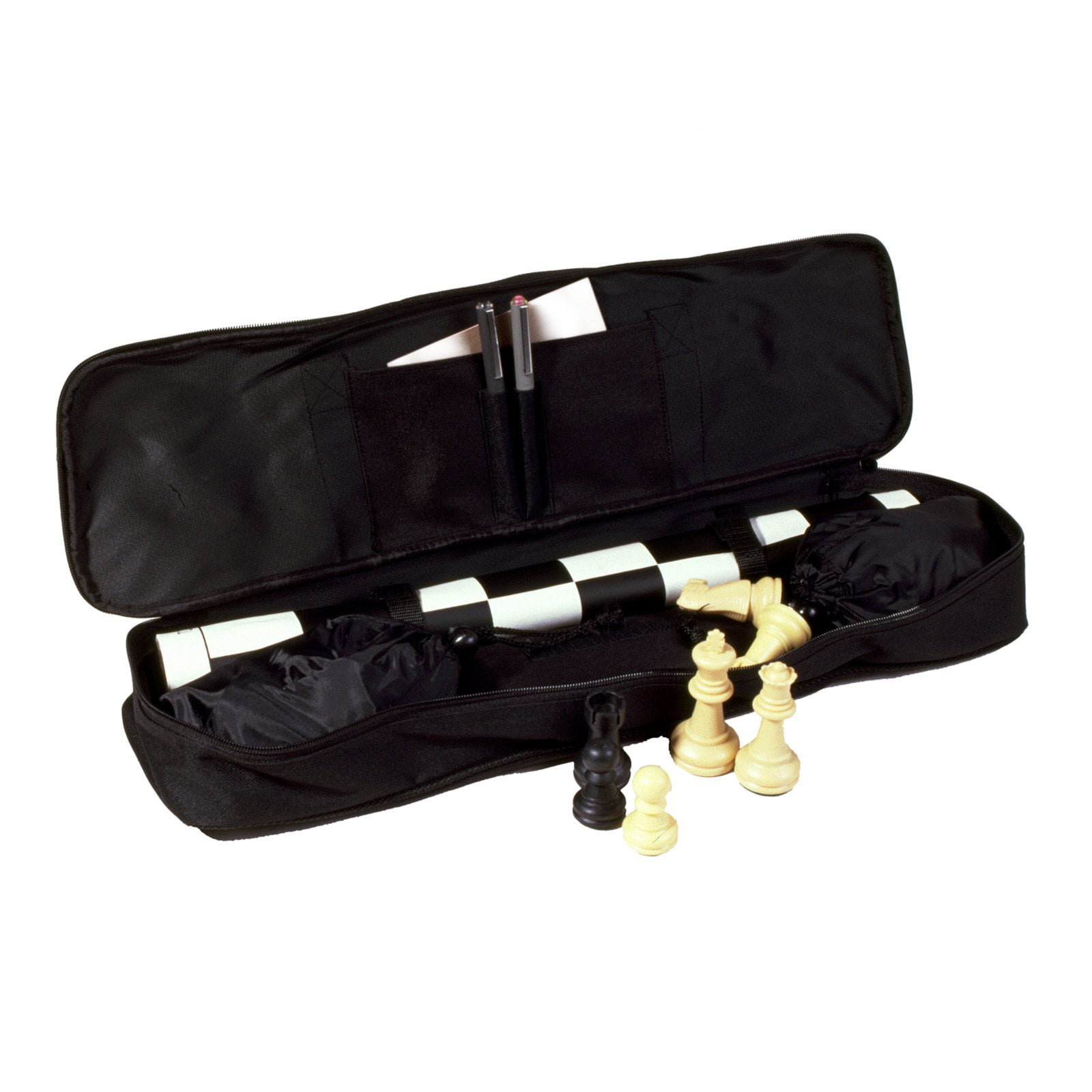 Click here to buy Sterling Games Standard Tournament Chess Set, Black by Sterling Games.