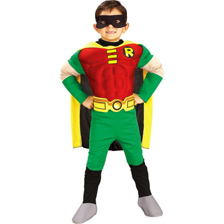 Batman Robin Deluxe Child Halloween Costume - Batman Rubber Costume