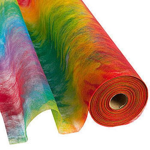 """Flame Retardent Gossamer, 19"""" x 50 Yards, Tie Dye Print"""