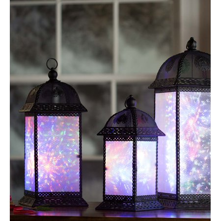 Color Changing Twirling Starlight Lantern, Small ()