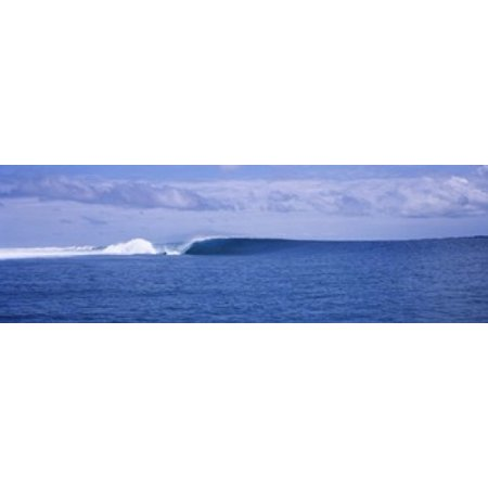 - Waves in the sea Indonesia Canvas Art - Panoramic Images (18 x 6)