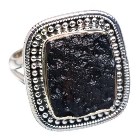 Ana Silver - Tektite Ring Size 9 25 (925 Sterling Silver