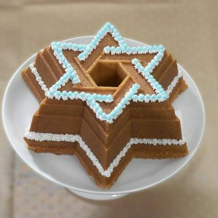 Nordic Ware Bundt Bakeware Cast Aluminum Nonstick Star of David Bundt Pan by