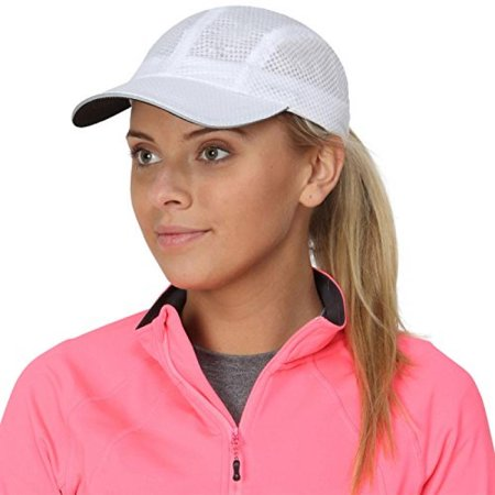 TrailHeads Women's Race Day Cap-Performance Hat - white (Valentines Day Hats)
