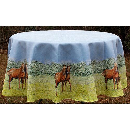 Betsy Drake Interiors Horse Round Tablecloth