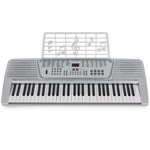 New Silver 61 Key Electronic Music Keyboard, Electric Piano Organ