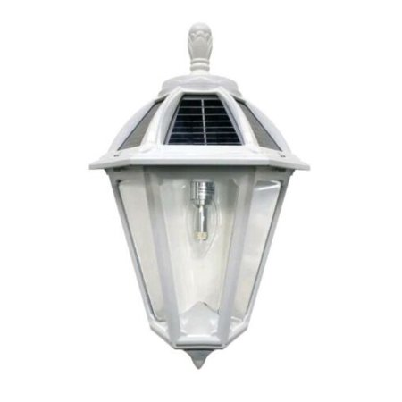 "Image of ""Gama Sonic Polaris Solar Powered 18"""" Tall 2700K LED Outdoor Wall Sconce"""