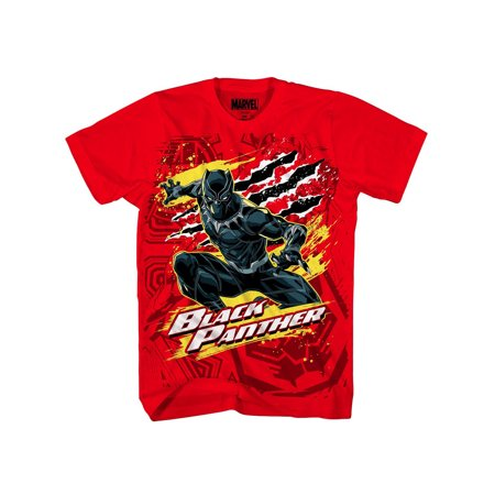 Marvel Clothes For Kids (Marvel Black Panther Boys' Panther Party Tee)