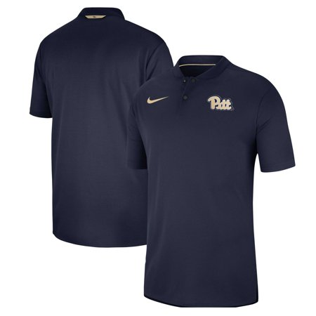 Pitt Panthers Nike 2018 Elite Coaches Blade Collar Performance Polo - Navy