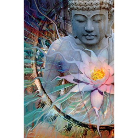 Buddha - Living Radiance Poster Poster Print