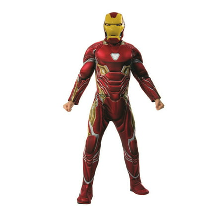 Mens Costumes (Marvel Avengers Infinity War Deluxe Mens Iron Man Halloween)