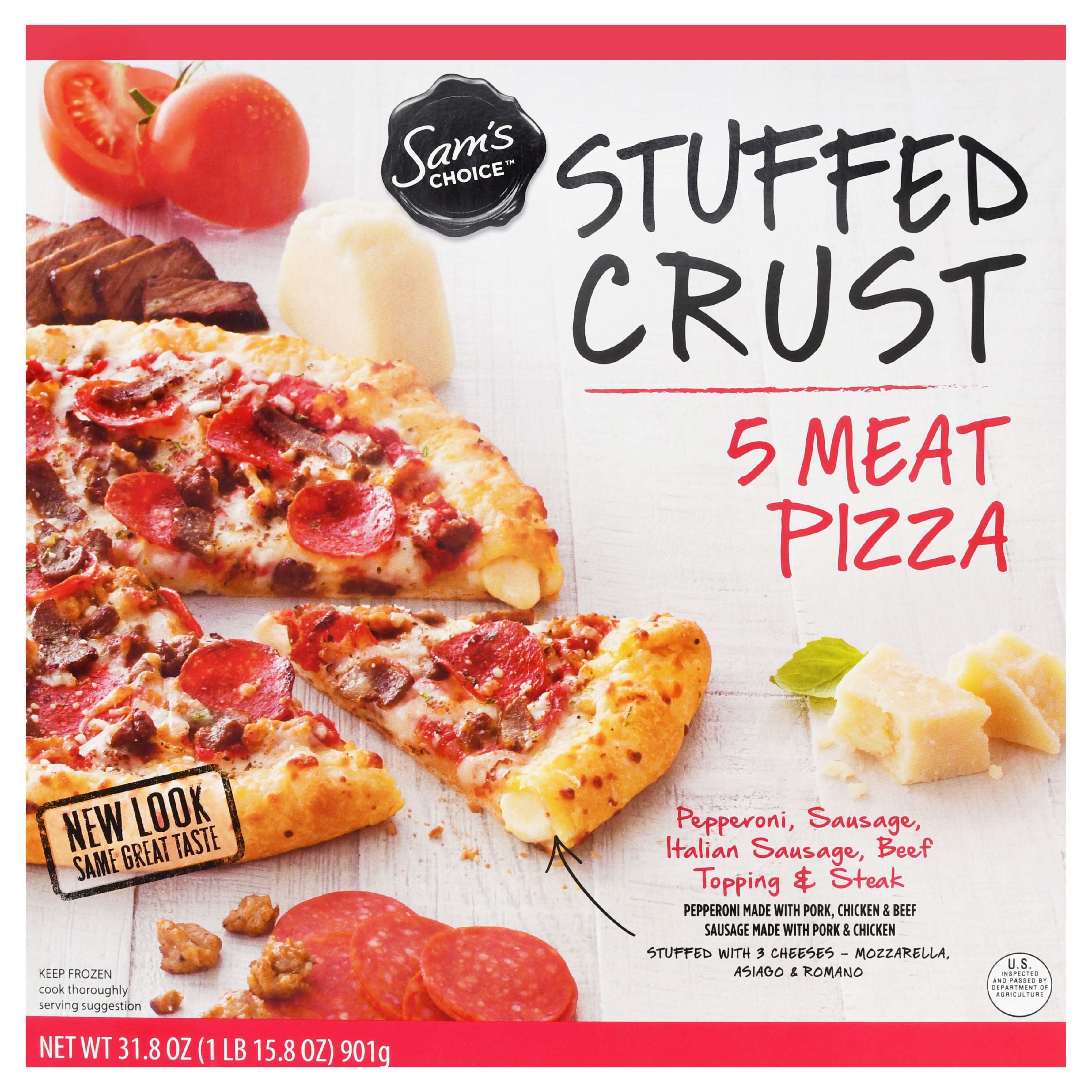 Sam's Choice Frozen Stuffed Crust 5 Meat Pizza, 31.8 oz
