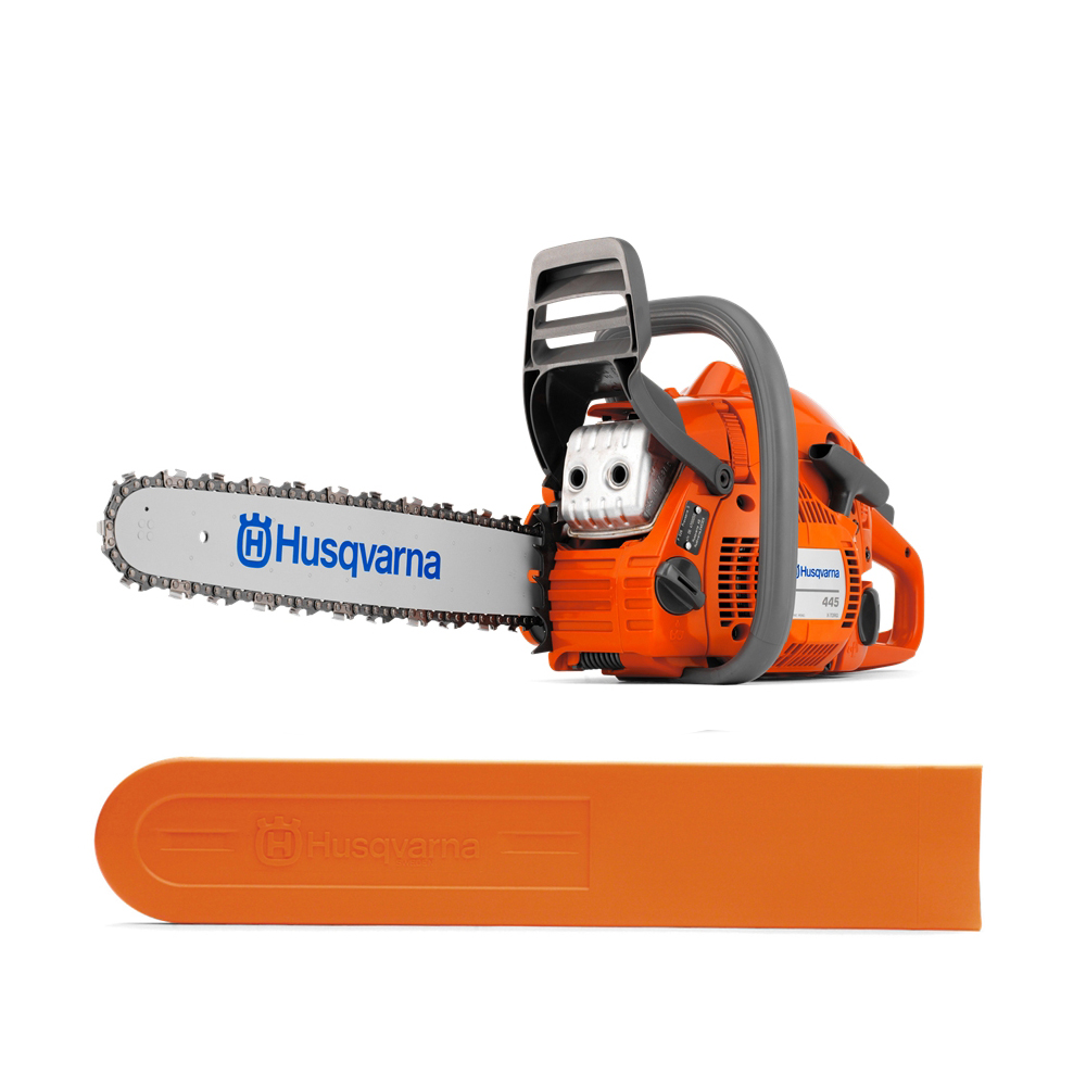 "Genuine New Husqvarna 445 Gas Powered Chainsaw 45.7cc 18"" Bar 66dl .050 Chain"