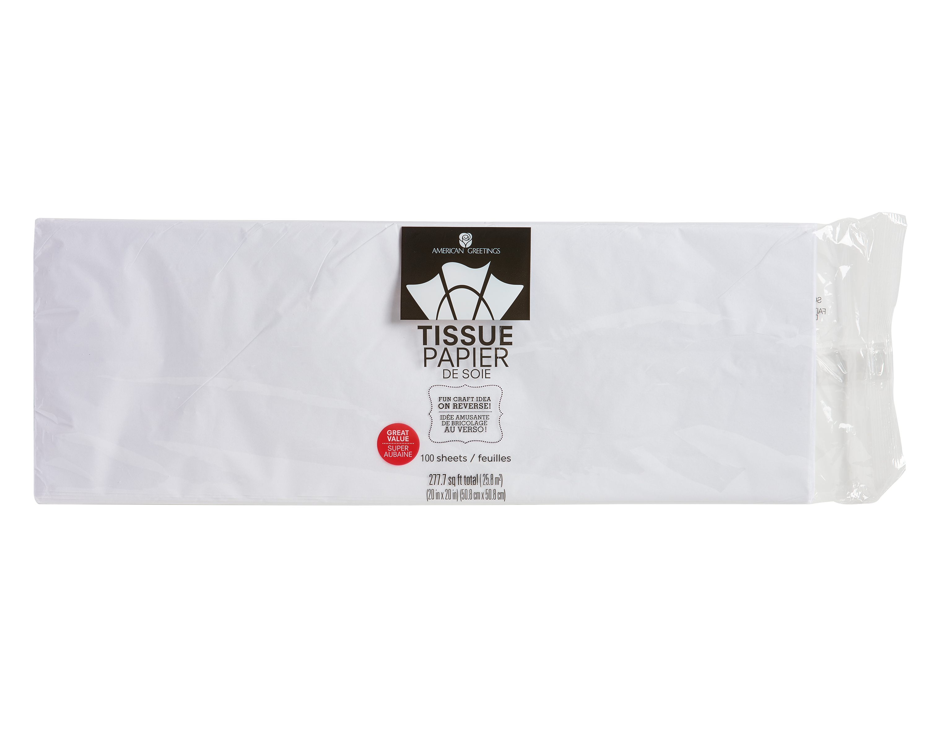 American Greetings White Tissue Paper 100 Sheets Walmart