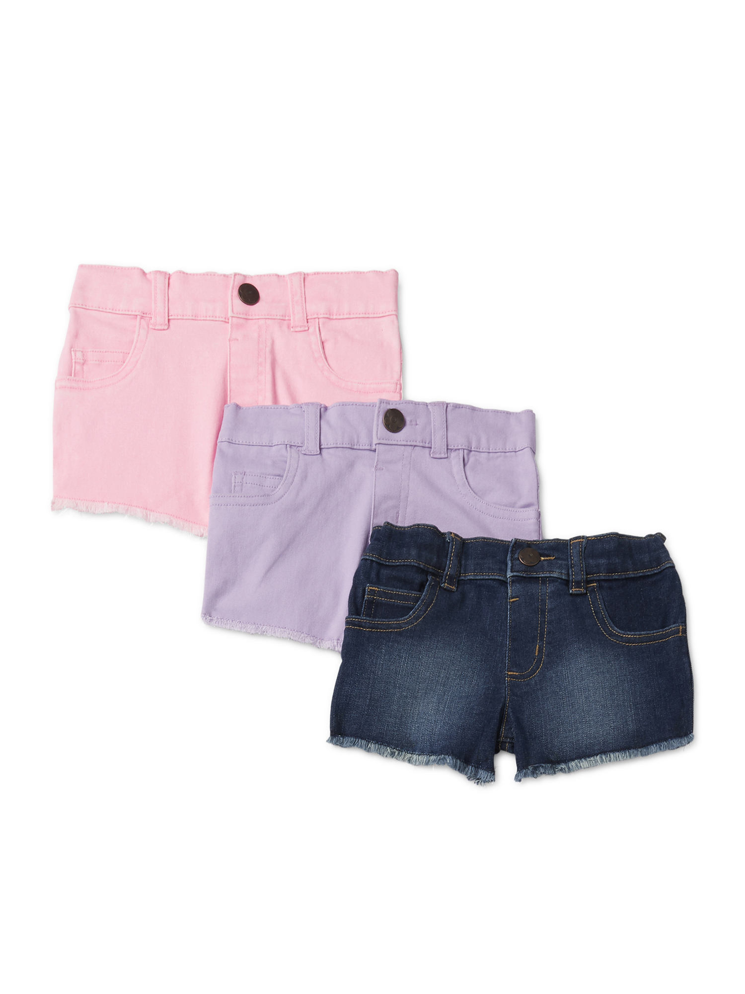 Mint//Purple Carters Baby Girls Toddler 2-Pack Tumbling Shorts