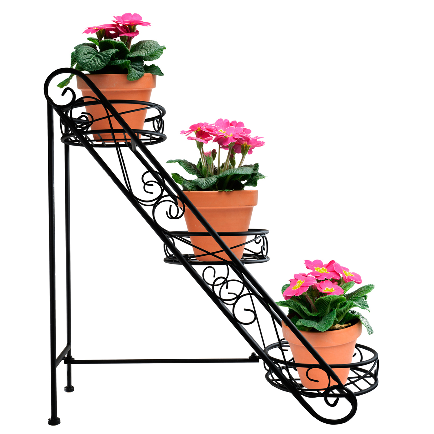 Sorbus Sorbus 3-Tier Flower Plant Stand, Slanted Flower Pot Holder by GGI International