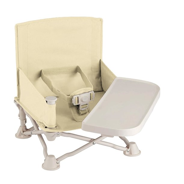Travel Booster Seat With Tray For Baby Folding Portable High Chair For Eating Camping Beach Lawn Design Straps To Kitchen Chairs Foldable Baby High Chair Seat Chair Table Seat With Tray Walmart Com