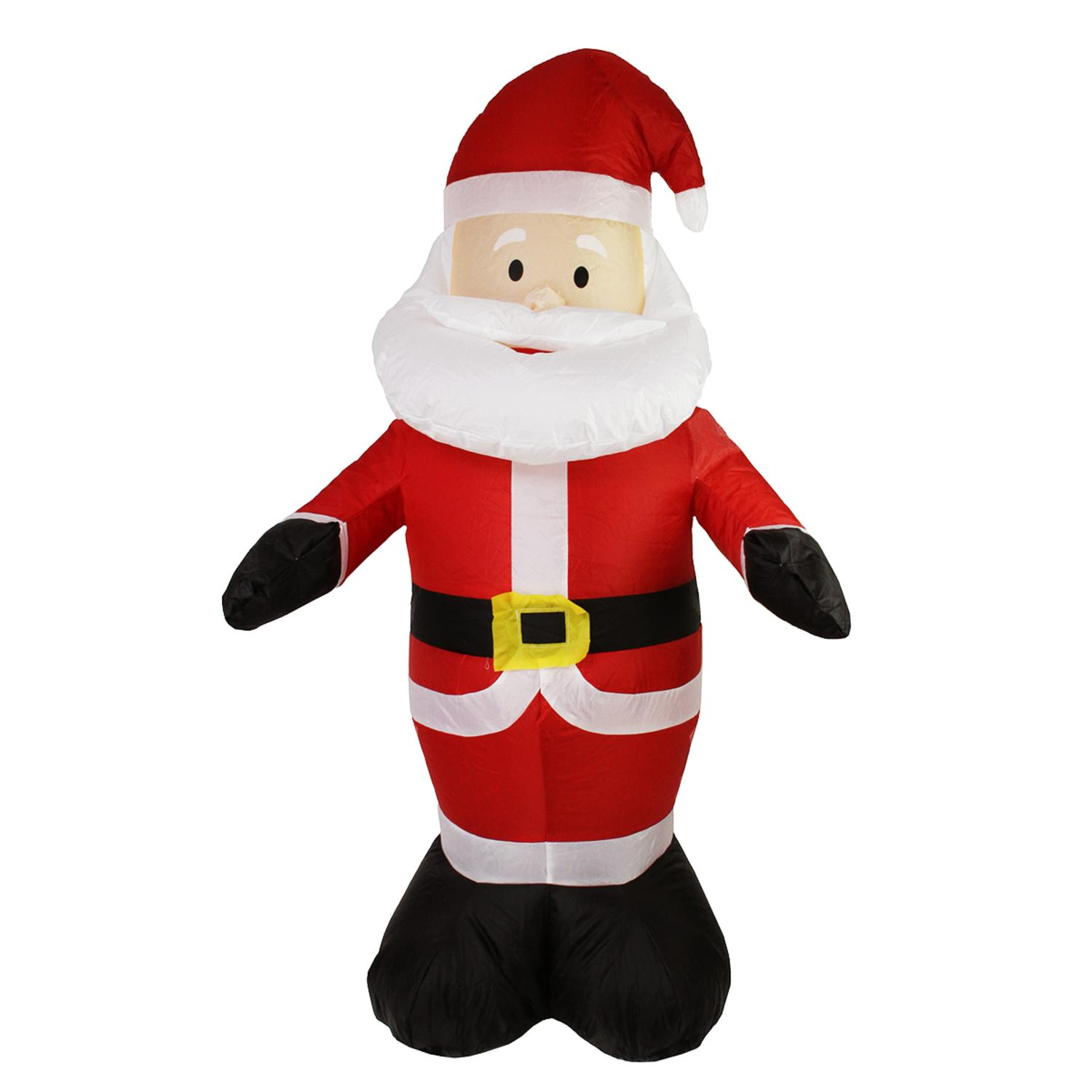 4' Inflatable Lighted Santa Claus Christmas Outdoor Decoration