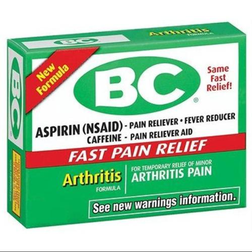 Bc Arthritis Formula Pain Reliever Powders 6 ea (Pack of 4)