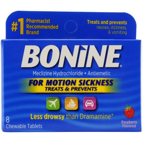 Bonine Motion Sickness Chewable (Pack of 18)