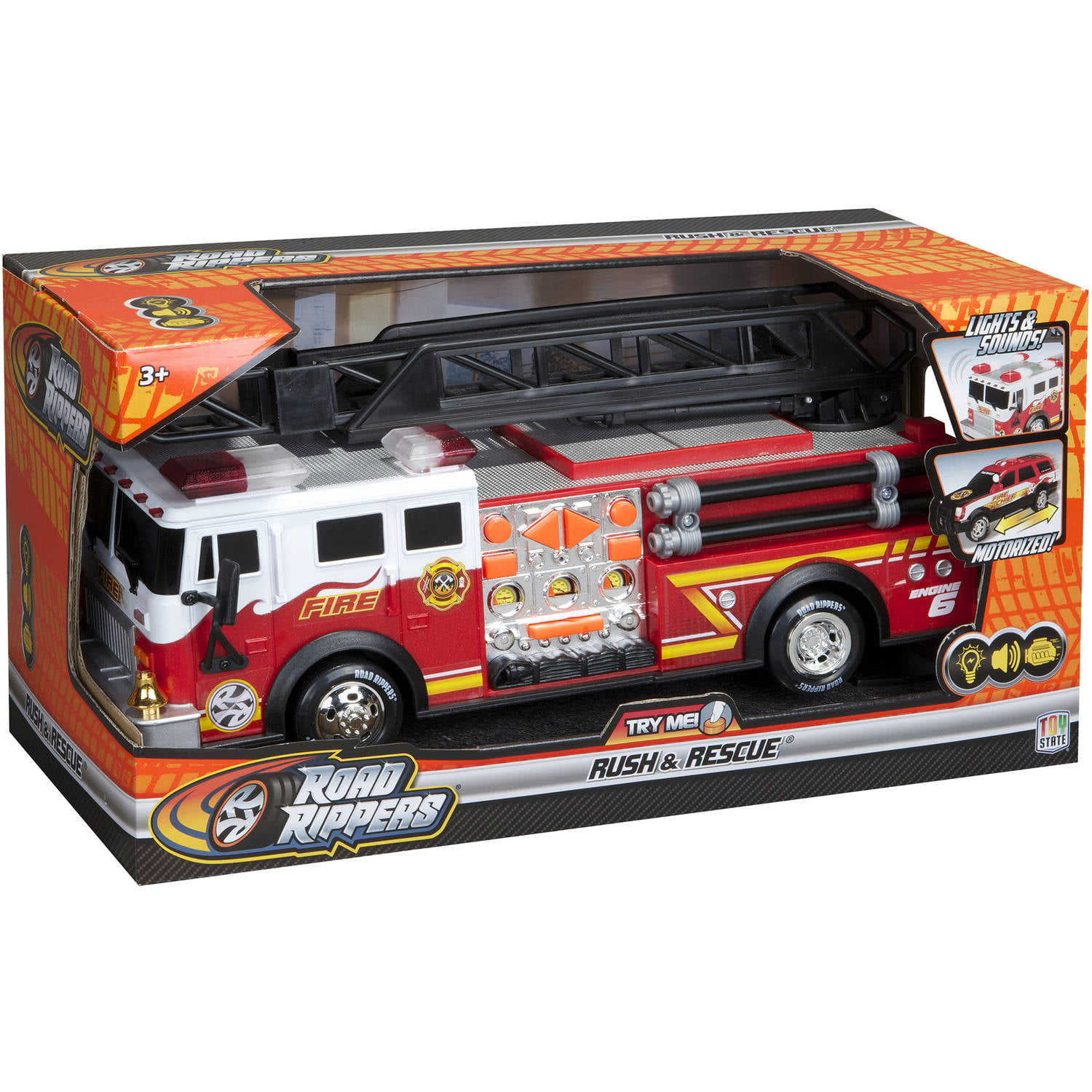 "Road Rippers 14"" Rush and Rescue Hook and Ladder Fire Truck by Toy State International Limited"
